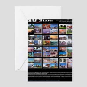 48stateslargePOSTER Greeting Card