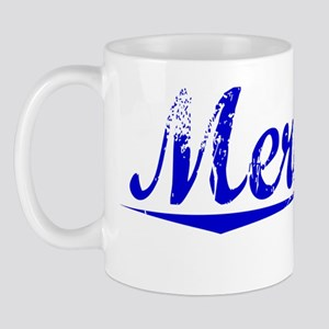 Merkley, Blue, Aged Mug