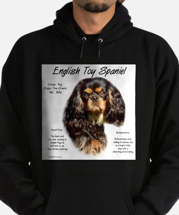 English Toy (king charles) Hoodie (dark)