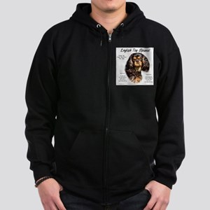 English Toy (king charles) Zip Hoodie (dark)