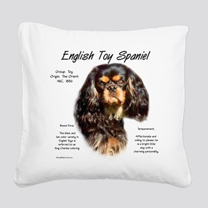 English Toy (king charles) Square Canvas Pillow