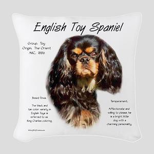 English Toy (king charles) Woven Throw Pillow