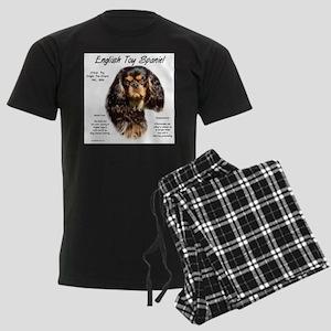 English Toy (king charles) Men's Dark Pajamas