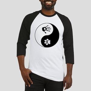 dog human yin yang Baseball Jersey