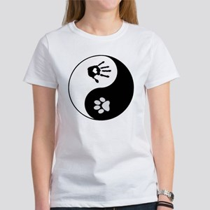 dog human yin yang Women's T-Shirt
