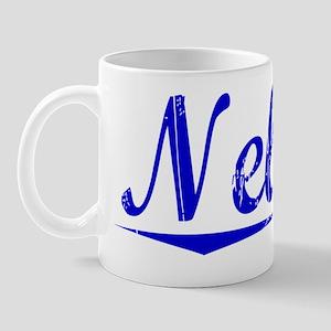 Nelson, Blue, Aged Mug