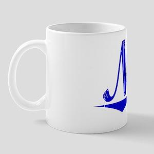 Nero, Blue, Aged Mug