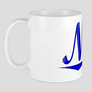Nida, Blue, Aged Mug