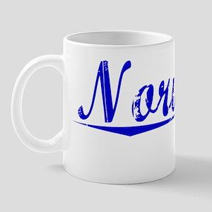 Norwood, Blue, Aged Mug