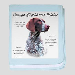 German Shorthaired Pointer baby blanket