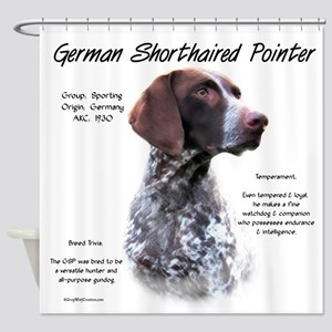 German Shorthaired Pointer Shower Curtain