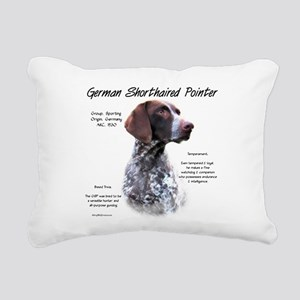 German Shorthaired Point Rectangular Canvas Pillow