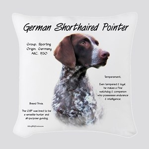German Shorthaired Pointer Woven Throw Pillow