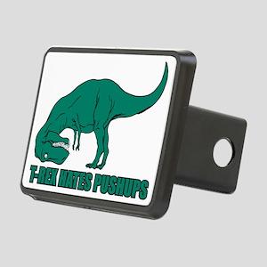 T-Rex Hates Pushups Rectangular Hitch Cover