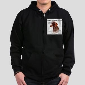 German Wirehaired Pointer Zip Hoodie (dark)