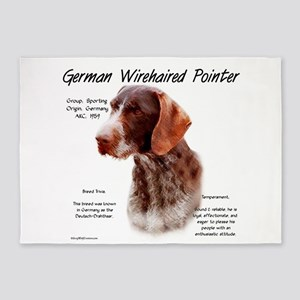 German Wirehaired Pointer 5'x7'Area Rug