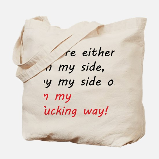 By my side... Tote Bag