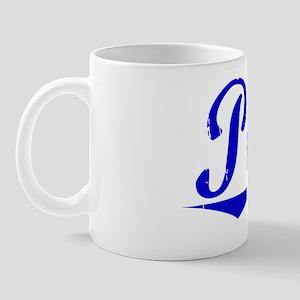 Peets, Blue, Aged Mug