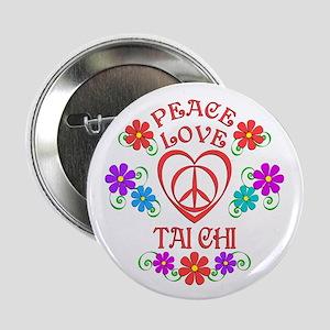 "Peace Love Tai Chi 2.25"" Button (10 pack)"