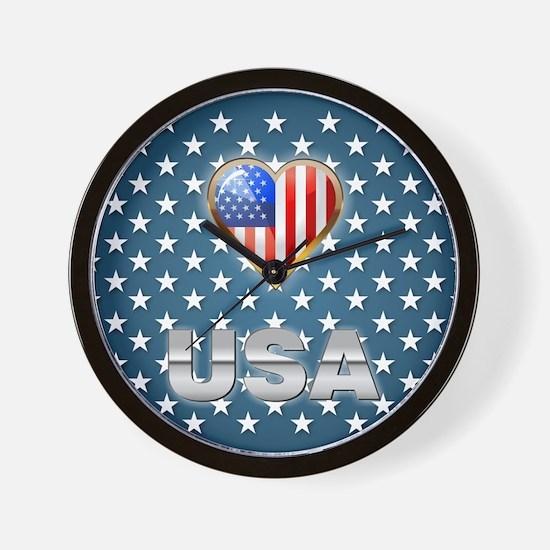 US Patriotic Design Wall Clock