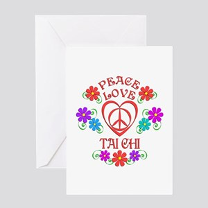 Peace Love Tai Chi Greeting Card
