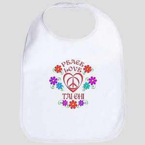 Peace Love Tai Chi Cotton Baby Bib