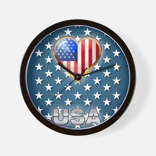 US Stars Wall Clock