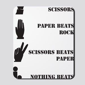 Rock Paper Scissors Blowjob Mousepad