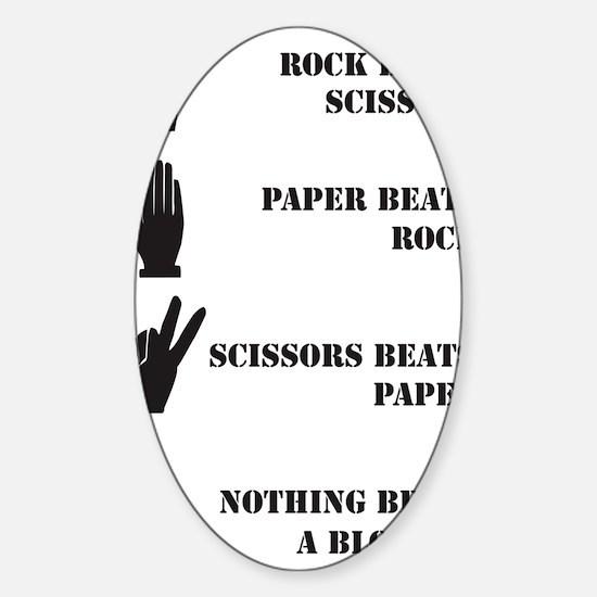 Rock Paper Scissors Blowjob Sticker (Oval)