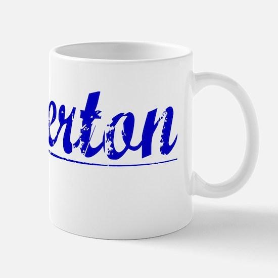 Pinkerton, Blue, Aged Mug