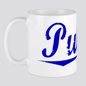 Pulley, Blue, Aged Mug