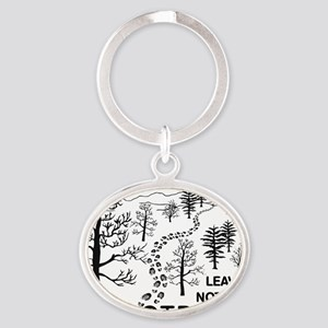 Leave Nothing but Footprints BLK Oval Keychain