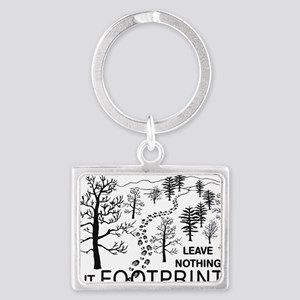 Leave Nothing but Footprints BL Landscape Keychain