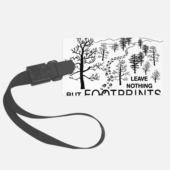Leave Nothing but Footprints BLK Large Luggage Tag