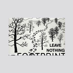 Leave Nothing but Footprints BLK Rectangle Magnet