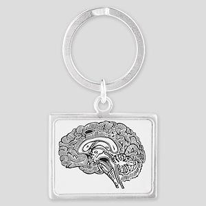 Science Geek Brain Landscape Keychain
