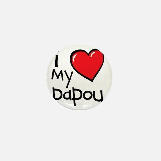 I Love My Papou Mini Button