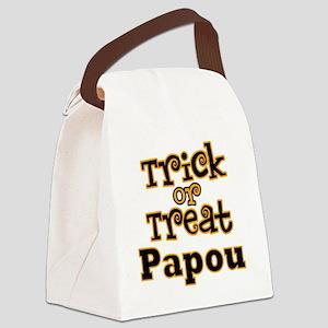 Trick or Treat Papou Canvas Lunch Bag