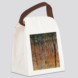 Gustav Klimt Beech Grove Canvas Lunch Bag