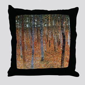 Gustav Klimt Beech Grove Throw Pillow