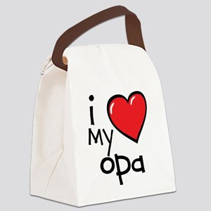 I Love My Opa Canvas Lunch Bag