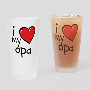 I Love My Opa Drinking Glass