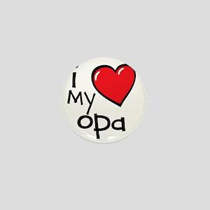 I Love My Opa Mini Button