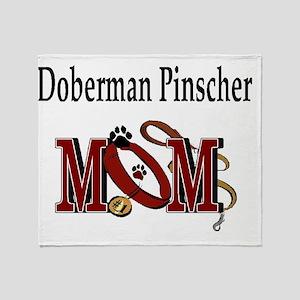 Doberman Pinscher Mom Throw Blanket