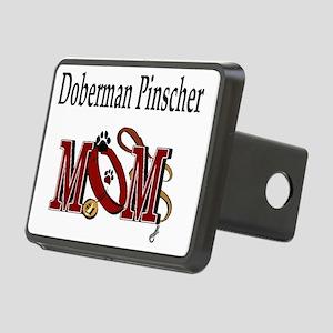 Doberman Pinscher Mom Rectangular Hitch Cover