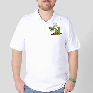 Noah and T-Rex, Funny Golf Shirt