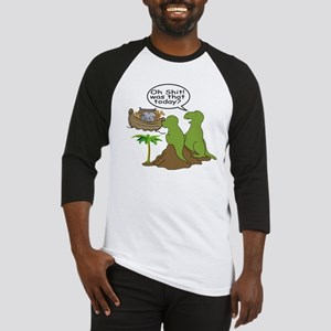 Noah and T-Rex, Funny Baseball Jersey