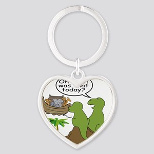 Noah and T-Rex, Funny Heart Keychain