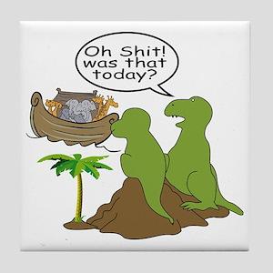Noah and T-Rex, Funny Tile Coaster
