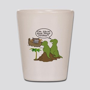 Noah and T-Rex, Funny Shot Glass